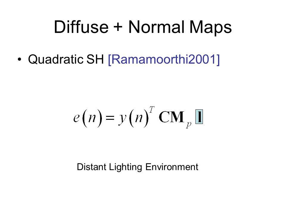 Diffuse + Normal Maps Quadratic SH [Ramamoorthi2001]